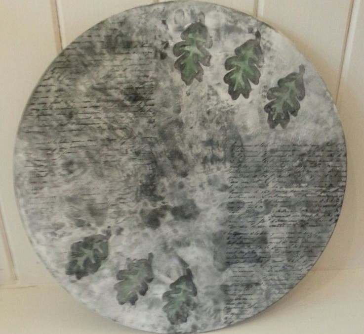Leaf glass plater