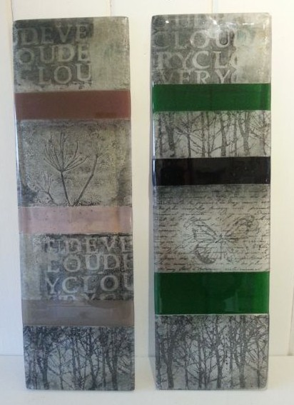 Glass wall plaques