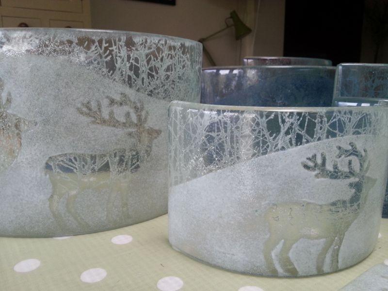 Reindeer glass