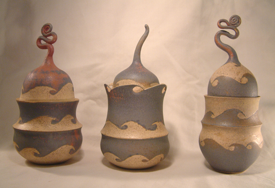 Wave Trinket Jars