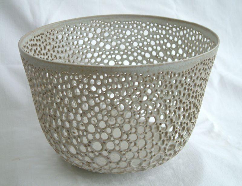 Stoneware Pierced Bowl