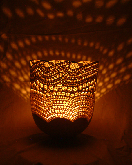 Illuminated Pierced Bowl