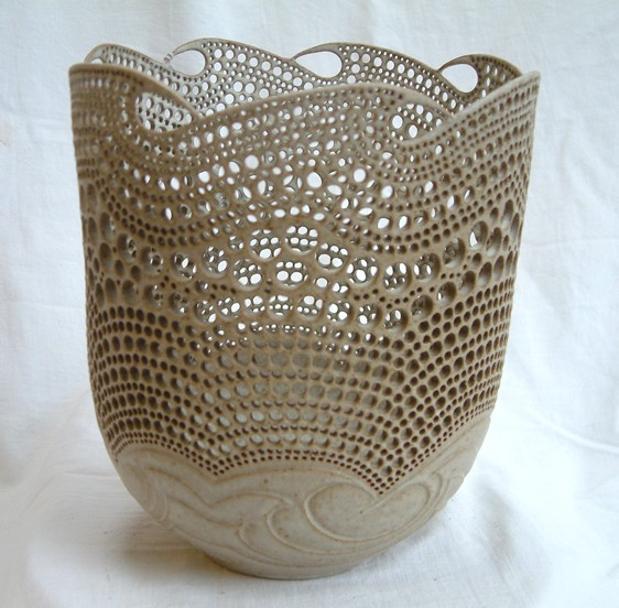 Tall Pierced Bowl