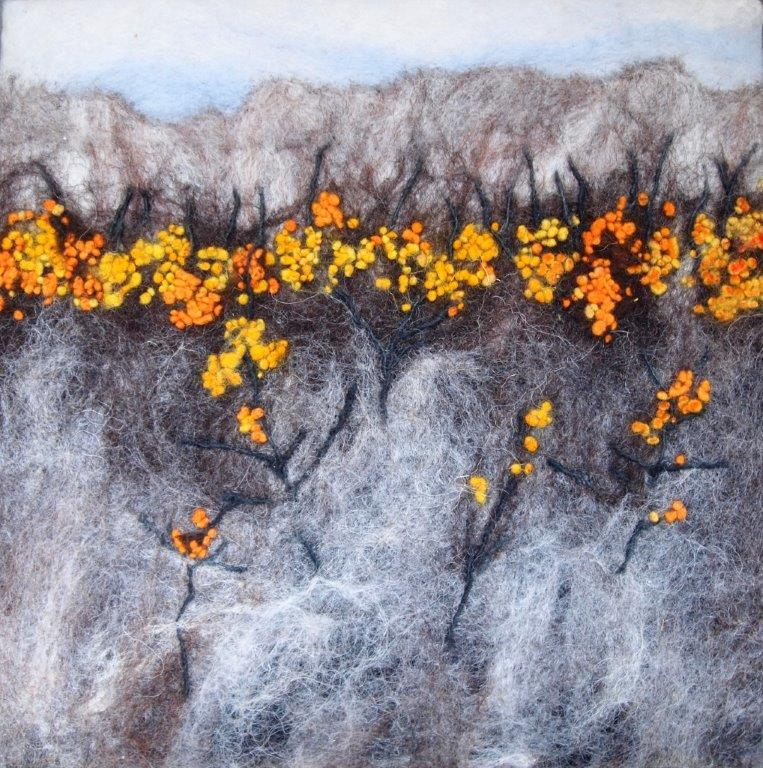 Sea Buckthorn felting