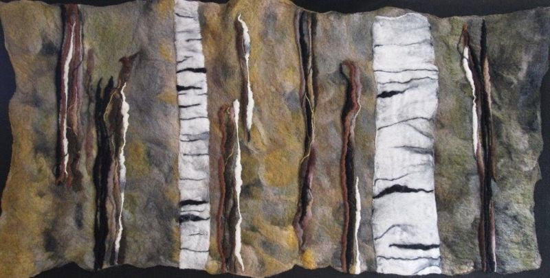 Silver birch felting
