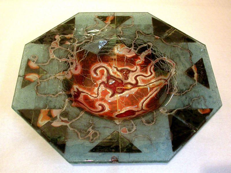 Solar Storm Octagonal Bowl