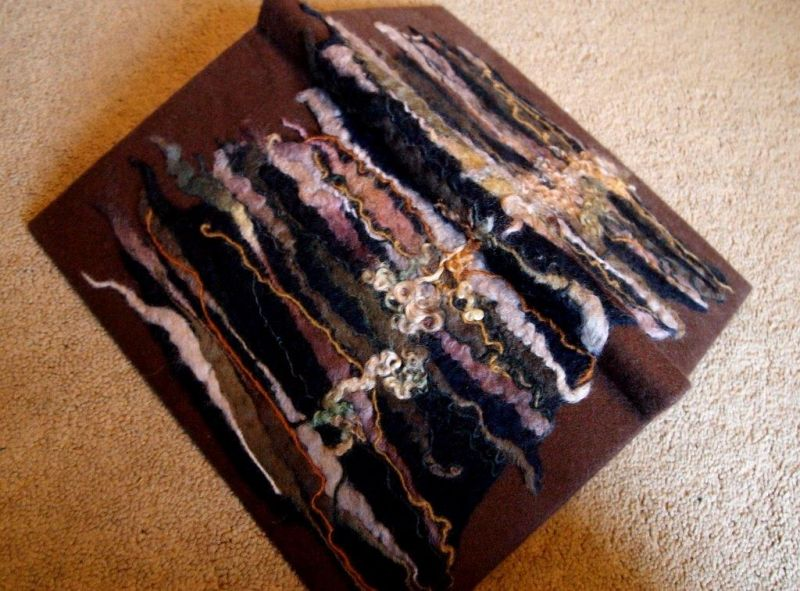 Woodland book felting