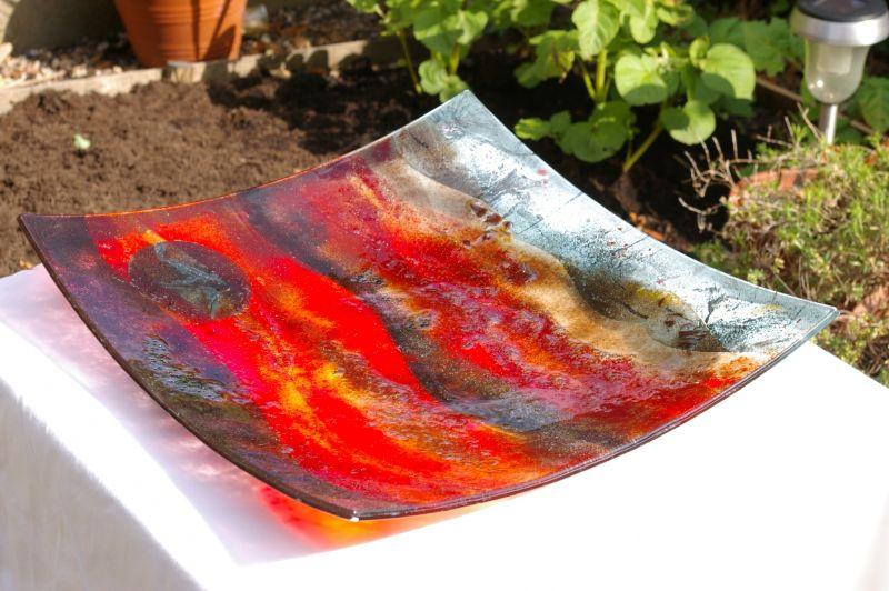 Glass bowl sunset