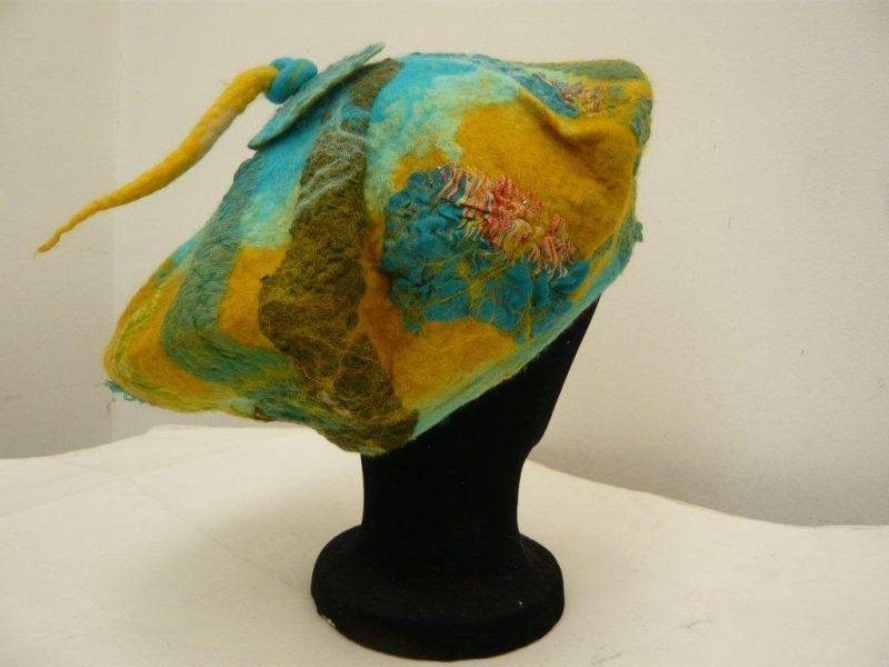 Nuno felted Beret