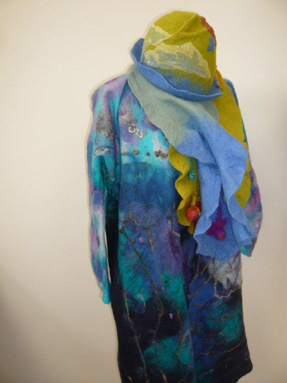 Screen Printed Nuno Felted Coat