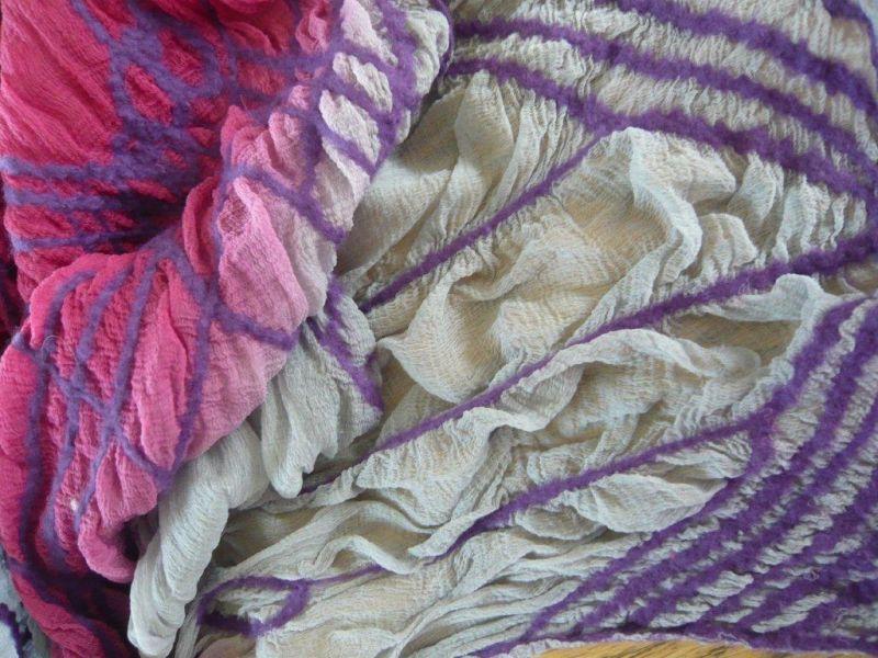 Nuno felted scarf